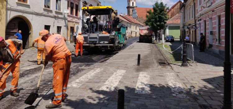 Asfaltarea a 47 de străzi din municipiul Bistrița