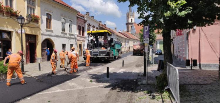 11 străzi din Bistrița au fost asfaltate anul acesta